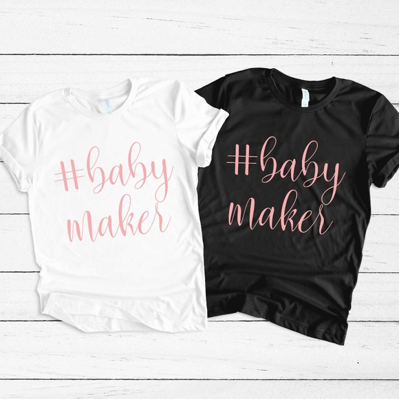 baby maker new mom pregnancy announcement shirt